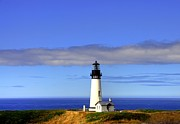 Scenes From Far And Near Framed Prints - Yaquina Head Light   2 Framed Print by Mel Steinhauer