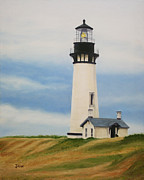 Oils Originals - Yaquina Head Lighthouse by Jimmie Bartlett