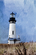 Fresnel Framed Prints - Yaquina lighthouse Framed Print by Elena Nosyreva