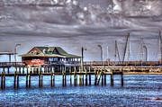 Pier Digital Art Originals - Yardarms on the Pier  by Michael Thomas
