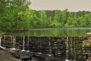 Cabin Wall Digital Art Prints - Yates Mill Pond Print by Paulette Wright