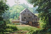Grist Mill Paintings - Yates Mill Raleigh NC by Luke Buck