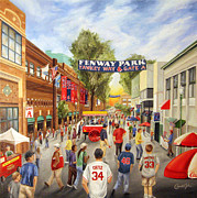 Boston Red Sox  Paintings - Yawkey Way by Christine Da Silva