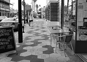 Ybor City Photos - Ybor City Sidewalk - Black and White by Carol Groenen