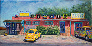 Hippie Van Posters - Ye Ole Hippie Emporium Cottonwood AZ Poster by Patty Kay Hall