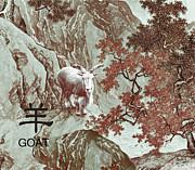 Goat Digital Art Metal Prints - Year of the Goat Metal Print by Schwartz