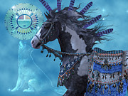 Wild Horses Digital Art Posters - Year of the Wolf Horse Poster by Corey Ford