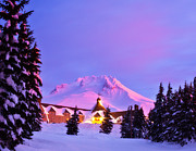 Mount Hood Oregon Prints - Years End Print by Darren  White