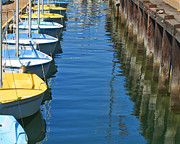 My Ocean Art - Yellow and Blue Sailboats from the book MY OCEAN by Author and Photographer Laura Wrede