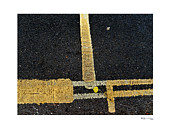 Double Yellow Lines Framed Prints - Yellow and Double Yellow Lines  Framed Print by Xoanxo Cespon