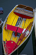 Dingy Framed Prints - Yellow and red boat Framed Print by Garry Gay