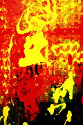 Fanciful Metal Prints - Yellow and Red Metal Print by Patricia Motley
