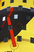 New York City Mixed Media - Yellow Architectural Abstract by Adspice Studios