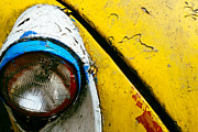 Transporter Prints - Yellow Auto Rickshaw Print by Dean Harte