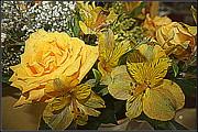 Yellow Blossoms Print by Dora Sofia Caputo