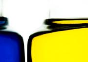 Yellow Blue Print by Bob Orsillo