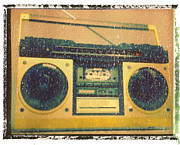 Punk Bass Prints - Yellow Boombox Art Print Print by Artful Musician NY