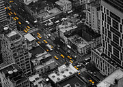 Thomas Richter Metal Prints - Yellow Cabs - New York City Metal Print by Thomas Richter