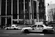 Break Fast Photos - Yellow Cabs Blur Past Madison Square Garden On 7th Avenue New York City by Joe Fox