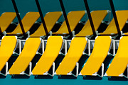 Lounge Chair Prints - Yellow Chairs Reflected Print by Amy Cicconi
