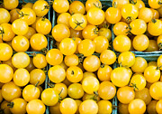 Groceries Posters - Yellow Cherry Tomatoes Poster by John Trax