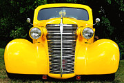 Captive Images Photography Posters - Yellow Chevy Poster by John Kiss