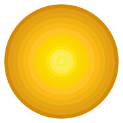 Gradient Prints - Yellow Circles Print by Frank Tschakert