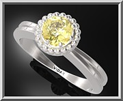 Promise Ring Jewelry - Yellow Citrine Sterling Silver Engagement Ring With Little Silver Balls by Roi Avidar