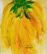 Yellow Bananas Paintings - Yellow Cluster by Tonya Schultz