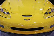 Fanatic Photo Framed Prints - Yellow Corvette Framed Print by Gallery Three
