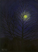 Arthur Barnes Art - Yellow Creek Moon by Arthur Barnes