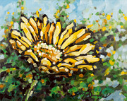 Grow Painting Posters - Yellow Daisy Poster by Mark Daniels
