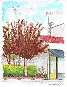 Santa Monica Paintings - Yellow door near Santa Monica Blvd in West Hollywood - California by Carlos G Groppa