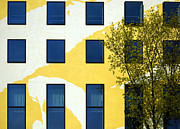 Yellow Facade In Berlin Print by RicardMN Photography