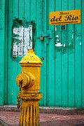 Wooden Building Prints - Yellow fire hydrant Print by James Brunker