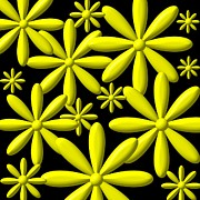 Rose Santuci-Sofranko - Yellow Flower Power 3D...
