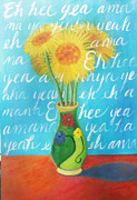 Dmb Prints - Yellow Gerbers Print by Jane Simonson