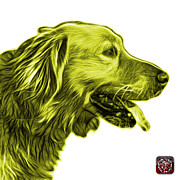 Golden Retriever Mixed Media - Yellow Golden Retriever - 4047 FS by James Ahn