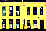 Yellow Building Framed Prints - Yellow Haus Framed Print by Amy Tyler