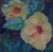Phyllis Rosenberg - Yellow hibiscus friends