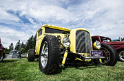 Ron Roberts Photography Prints - Yellow Hot Rod Print by Ron Roberts