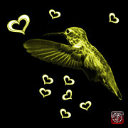 Animal Lover Digital Art - Yellow Hummingbird - 2055 F M by James Ahn