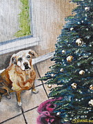 Melissa Torres - Yellow Lab Christmas