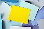 Office Space Metal Prints - Yellow Memo Metal Print by Carlos Caetano