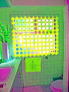 Laurie Freitag - Yellow Mosaic Bathroom