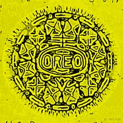 Oreos Prints - Yellow Oreo Print by Rob Hans
