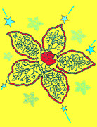 Christine Perry - Yellow Paisley Design
