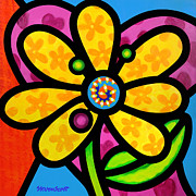 Steven Scott - Yellow Pinwheel Daisy