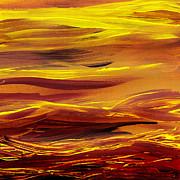 Irina Sztukowski - Yellow River Flow Abstract