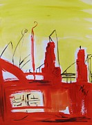 Yellow Sky Industry Print by Mary Carol Williams